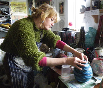 Beth at work in her studio